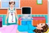 لعبة توليد المراة الحامل في المستشفى
