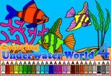 لعبة تلوين السمكة في البحر