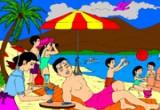 لعبة النزهة فى البحر
