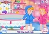 العاب استحمام بيبي هازل واخته
