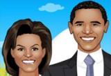 لعبة تلبيس الرئيس اوباما وزوجته
