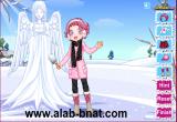 لعبة تلبيس الفتاة في فصل الشتاء