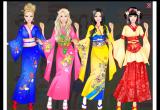 لعبة تلبيس باربى اليابانية اثناء رحلتها في اليابان