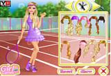 لعبة تلبيس باربى ملابس الرياضة الجميلة