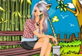 لعبة تلوين الحديقةالجميلة وتلبيس الفتاة