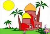 لعبة تلوين المسجد فى رمضان