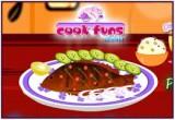 لعبة طبخ السمك فى رمضان
