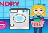 لعبة غسل الملابس فى الغسالة