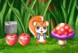 لعبة مغامرات السنجاب الصغير فى الغابة