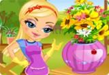 لعبة بائعة الزهور  وتقديمها للزبائن