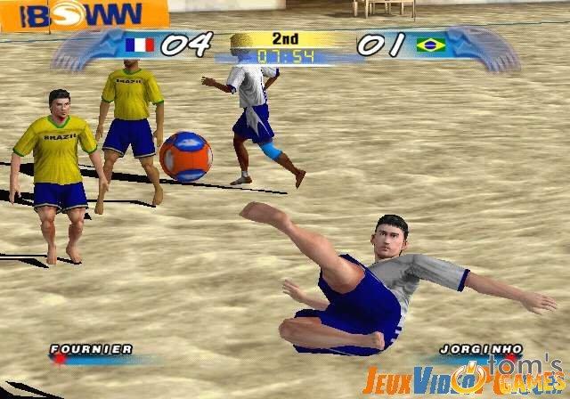 لعبة كرة قدم الشاطئ الجديدة