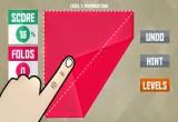 لعبة طي الورق الملون