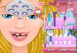 لعبة تنظيف الاسنان عند الطبيب