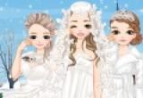 لعبة تلبيس العروسة فى الشتاء