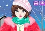 لعبة تلبيس ملابس الشتاء للبنات