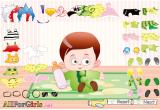 لعبة معرض ملابس الطفل