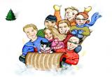 لعبة سباق المزلاج على الجليد