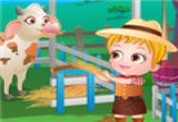 لعبة بيبى هازل فى مزرعة الحيوانات