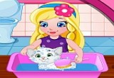 لعبة رعاية القطة الصغيرة