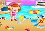لعبة تنظيف الشاطئ