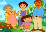لعبة تركيب صورة دورا وعائلتها