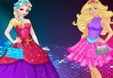 لعبة مسابقة الأزياء بين باربى والسا