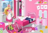 لعبة تنظيف منزل باربي من الاوساخ