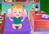 العناية بالطفلة المريضة