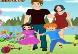 لعبة تلبيس العائلة السعيدة