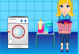 لعبة غسل الملابس و نشرها و كويها