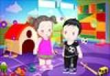 لعبة تلبيس البنت والولد التوأم