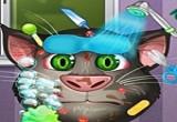لعبة علاج القط الناطق من حب الشباب