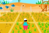 لعبة زراعة الذرة في لعبة المزرعة